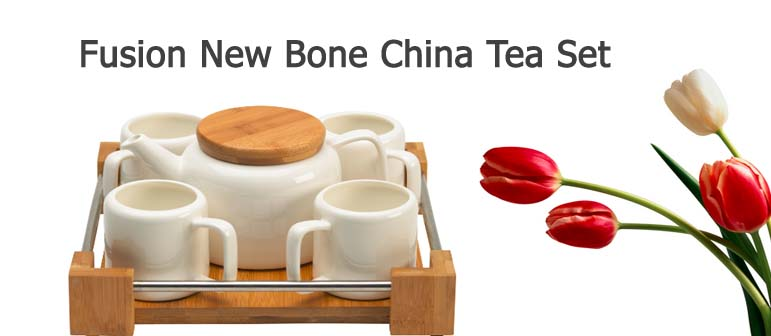 Fusion New Bone China Tea Set with Mug and Tray